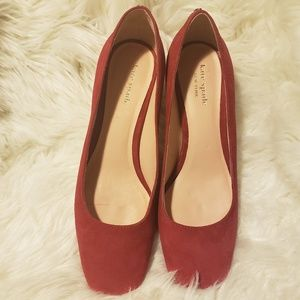 Kate Spade New York Beverly red suede pump